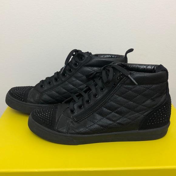 Northstar Shoes - NORTHSTAR • Black Leather Studded Hightop Shoes 7